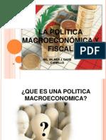 Sección VII Politica Macroeconomica y fiscal