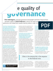 The Quality of Governance