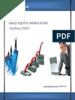 Daily Equity News by TheEquicom.com 26-Nov-13