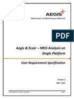 Aegis and Essar- HRSS User Requirements SpecVer1