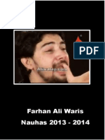 Farhan Ali Waris 2013 - 2014