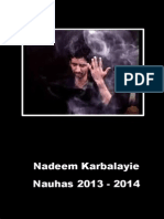 Nadeem Karbalayi 2013 - 2014