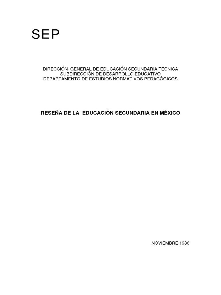 Plan de Estudios 1926 a 1974
