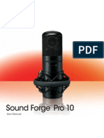 Sony Sound Forge Pro 10_user Manual