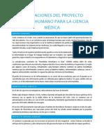 Implicaciones del proyecto genoma humano para la ciencia médica