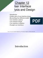 Pressman Ch 12 User Interface Design