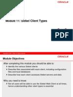 11 Siebel Client Types