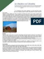 El cambio climático en Colombia