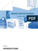 Presentation On Brand Repositioning of Comfort Fabric Conditioner in Pakistan