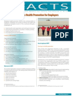 Workplace Health Promotion for Employers