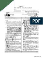 UGC Computer Science Paper 2 Solved December 2012