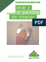 Preparar y Pintar Paredes de Interior