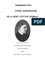 Commémoration du centième anniversaire de la mort d'Octave Mirbeau