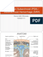 Perdarahan Subarchnoid (PSA)