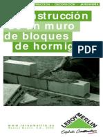 Construcción de un Muro con Bloques de Hormigón