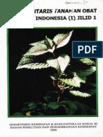 Inventaris Tanaman Obat Indonesia I Jilid 1