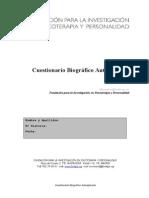 Cuestionario Biogrfico Autoaplicado Fundipp