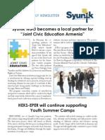 Syunik NGO Newsletter Issue 7