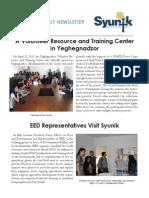 Syunik NGO Newsletter Issue 8