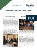 Syunik NGO Newsletter Issue 13