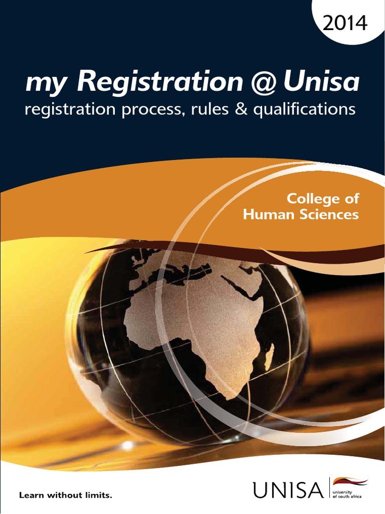 myregistration unisa 2014 chs academic degree diploma