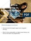 Building Online Employability in Academic Settings