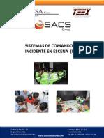 Curso Sistema de Comando de Incidentes en Escena