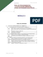 MANUAL DE PROCEDIMIENTOS PARA LA EVALUACIÓN AMBIENTAL DE PROYECTOS Modulo 2