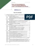 MANUAL DE PROCEDIMIENTOS PARA LA EVALUACIÓN AMBIENTAL DE PROYECTOS Modulo 4
