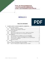 MANUAL DE PROCEDIMIENTOS PARA LA EVALUACIÓN AMBIENTAL DE PROYECTOS Modulo 5