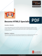 Become a HTML5 Specialist