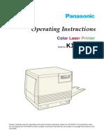 Panasonic KX-P8410 Operating Instructions