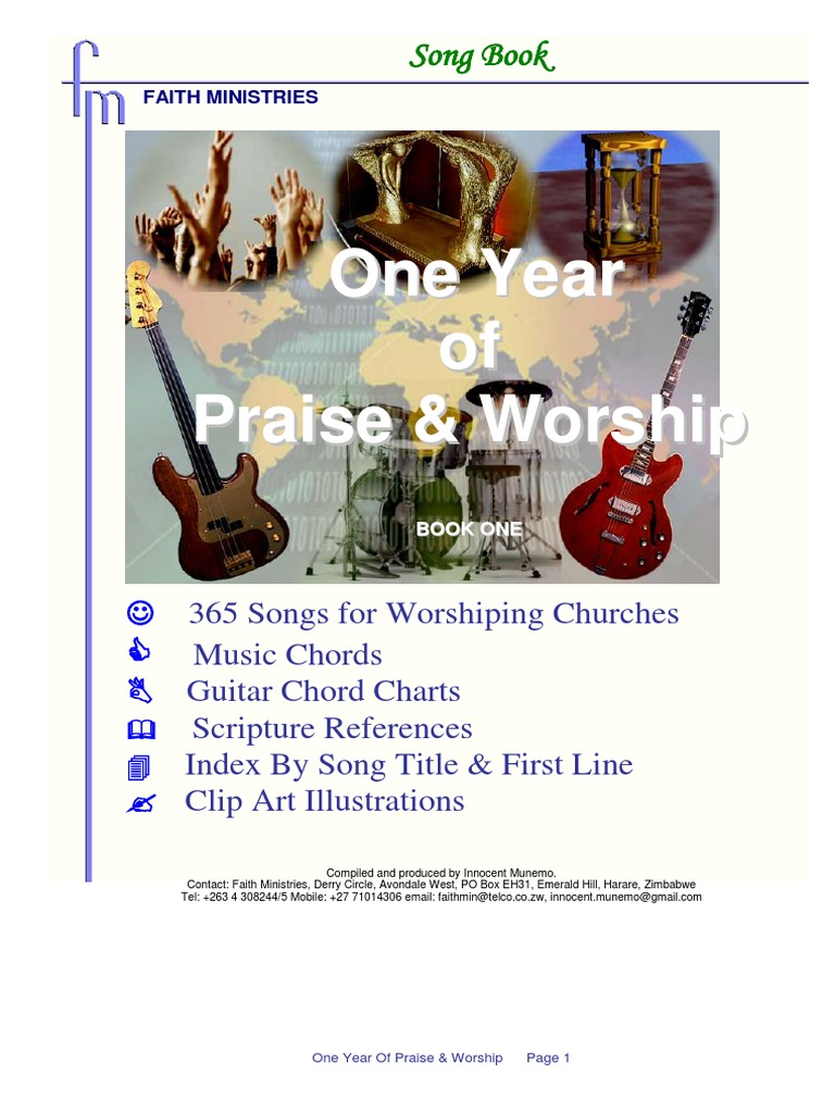 Faith Ministries Song Book (2) | Contemporary Worship Music