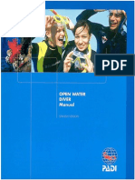 PADI OPEN WATER DIVER MANUAL EN ESPAÑOL