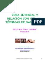 Yoga Integral y Relacion Con Otras Tecnicas de Sanacion