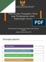 Perencanaan Pengadaan Tanah Bagi Pembangunan Untuk Kepentingan Umum