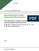 Part F Amendments