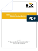 HCC Opportunities for Improvement Survey Results & Post Survey Action Plan