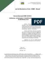 Norma Nacional Uniforme Bombeiro Cnbc