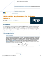 SEM and Its Applications for Polymer Science