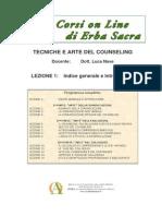 Counseling Erba Sacra