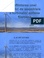 Înființarea unei fabrici de asamblare a turbinelor eoliene Siemens