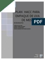 Plan Haccp Empaque Uva de Mesa