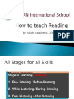 3 Stages in Teaching Reading