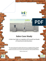 Marico Over the Wall Sales Case Study