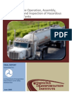 Guidelines for Operation Assembly Repair Inspection of HM Cargo Tanks June 09 508