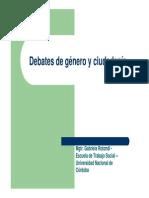 Gabriela Rotondi - Debates de Genero y Ciudadania