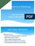 As PE Lesson 10 Biomechanics