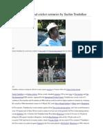 List of International Cricket Centuries by Sachin Tendulkar