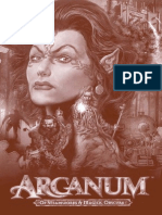 Arcanum Quick Reference Card